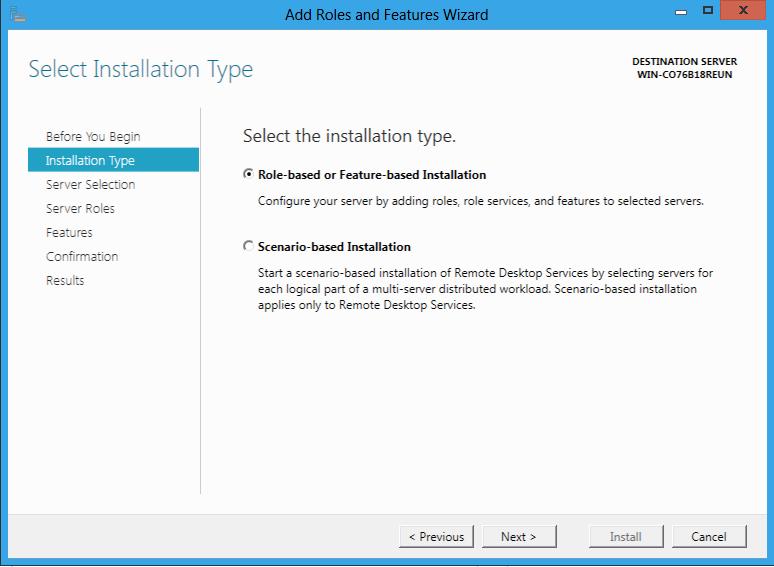 Instalacia Role na Windows Server 8